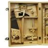 16Pc. Metal Tool Kit with Wood Box