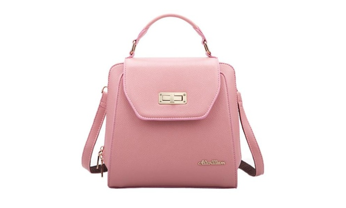 Women's Causal Top Handle Travel Bag – Bubblegum Pink / One Size