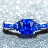 Cushion-Cut Lab-Created Sapphire Ring