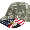 Embroidered American Eagle and USA Flag Baseball Cap, Digital Camo