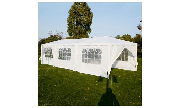 ... Costway Costway 10u0027x30u0027Heavy duty Gazebo Canopy Wedding Tent Outdoor Party  sc 1 st  Groupon & Costway 10u0027x30u0027Heavy duty Gazebo Canopy Wedding Tent Outdoor Party ...