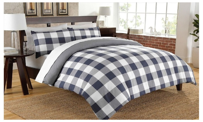 kids for bedding cover check and buffalo designer gray boy taupe covers large duvet girl