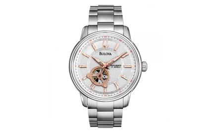 Bulova Men's Mechanical Silver Dial Stainless Steel Automatic Watch