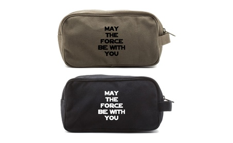 May The Force Be With You Star Wars Canvas Travel Toiletry Bag
