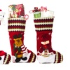 """Christmas Santa Decorations 18"""" Cute Christmas Stockings in Pack of 3"""