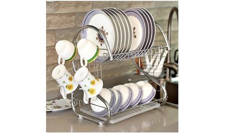 Home Basics Dish Drainer Drying Rack