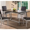Enerhodar 5 Pieces Dining Set In Espresso & Silver
