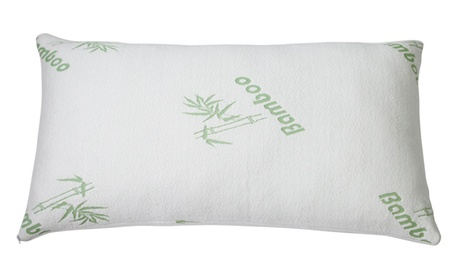 Bamboo Hypoallergenic Memory Foam Pillow (1- or 2-Pack)