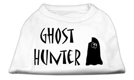"Ghost Hunter Screen Print Shirt White with Black Lettering XL - 16"" L 6c526fb5-ad51-4ea1-83e5-6e150032fdb9"