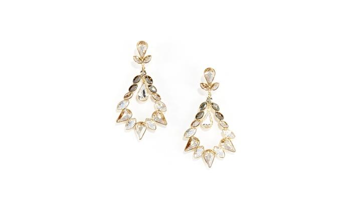 swarovski alabaster drop earrings groupon