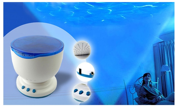 Ocean Waves Projector and Music Player Speaker
