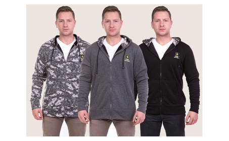 Officially Licensed U.S. Army Zip-Up Hooded Sweatshirt 68d14035-43f0-4fe0-8e7d-48af3c10658e