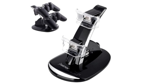 Insten Dual USB Charging Charger Dock Station Stand for PS3 Controller 850bb521-c6c3-40e0-8a66-f62a19419285