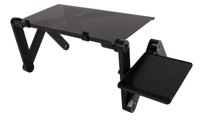 360°Adjustable Laptop Notebook Desk Table Stand Bed Tray foldable W//Mouse Board