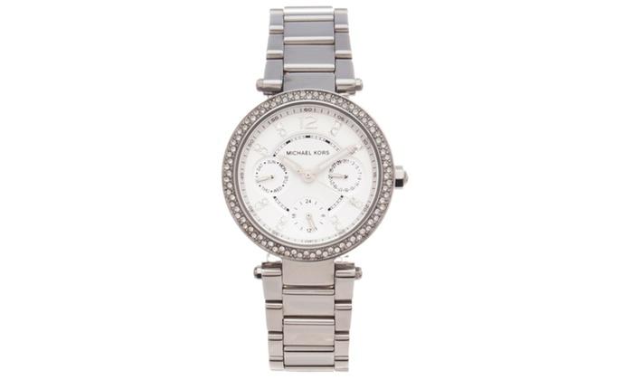 Michael kors women 39 s 39 parker 39 multifunction glitz watch for Michaels craft store watches