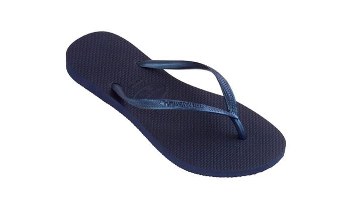 7bafa0424b40 Havaianas Slim Navy Blue Women s Flip Flops