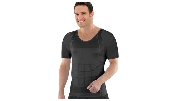 HomeTek Mens Insta Slimming T-Shirt - Black