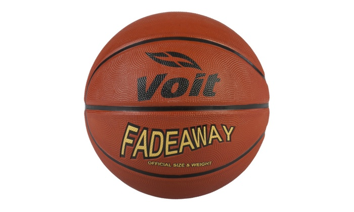 Voit Size 7 Fadeaway Rubber Basketball Deflated