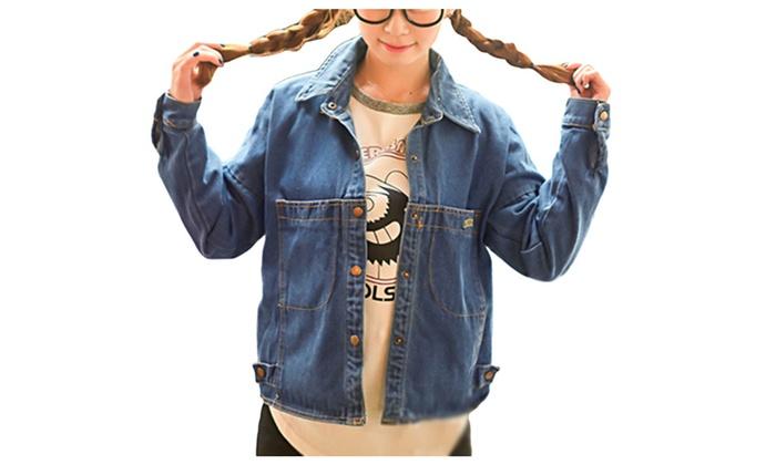 DPN Women's New Sizes 2015 Stylish Warm Denim Jackets Outer