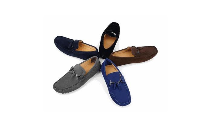 Men's Casual Comfort Genuine Nubuck Leather Running Outdoor Loafers