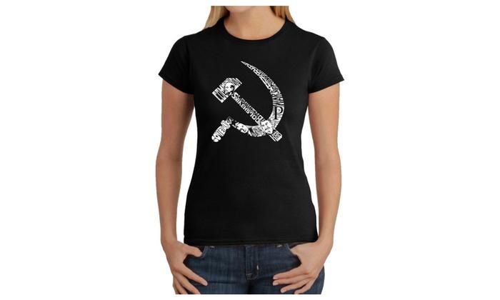 Women's T-Shirt - SOVIET HAMMER AND SICKLE
