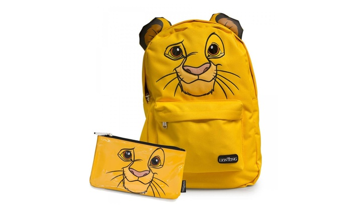 1deb0019c1c0 Disney Simba Lion King Nylon Backpack and Pencil Case Set by Loungefly