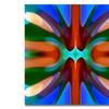 Amy Vangsgard Tree Light Symmetry Blue Green Canvas Print