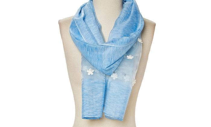 e56b8fecd Floral Viscose Scarfs Lightweight Long Fashion Womens Wrap Scarves Summer  Spring