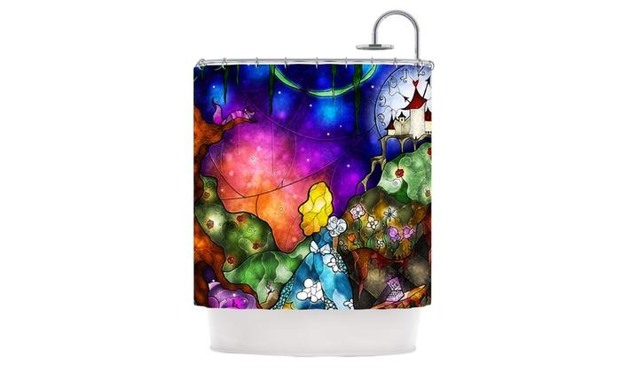 Mandie Manzano Fairy Tale Alice In Wonderland Shower Curtain