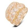 Rose Mesh Zircon Statement Women's Ring