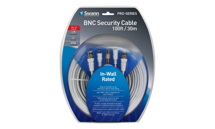 Swann SWPRO-30MFRC-GL In-Wall Rated 100ft 30m BNC Cable