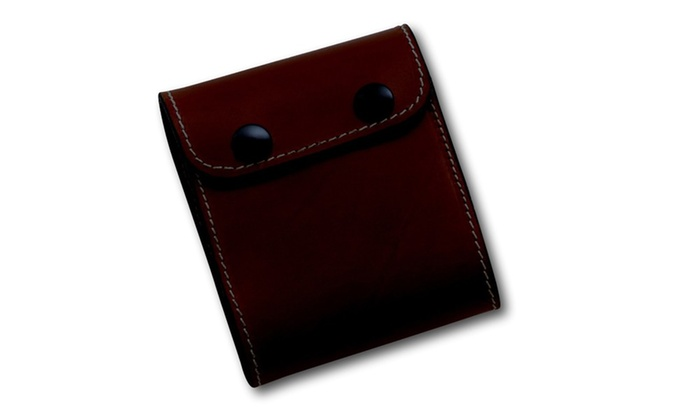 Grizzly Leather Rifle Cartridge Wallet Dark Brown