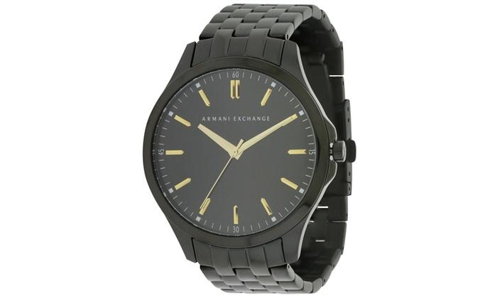 45f49b019710 Armani Exchange Black Stainless Steel Mens Watch AX2144