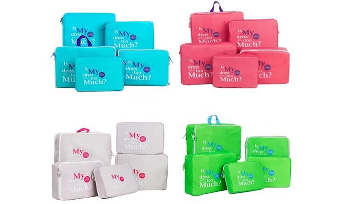 9a3e3405a1cb Up To 71% Off on 5Pcs Set Travel Storage Bags ...