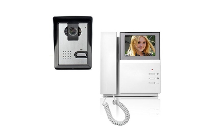AMOCAM Video Door Phone System 4.3 Inch Clear LCD Monitor Wired Video