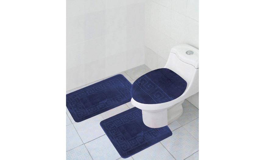 Up To 54 Off On 3 Piece Bath Rug Set Bathroom Groupon Goods