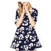 Stylebek Women's Fashion Casual Regular Fit Mid-Sleeves Floral Dress