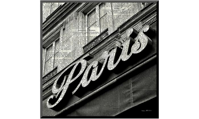 Groupon Goods: Newsprint Paris by Marc Olivier