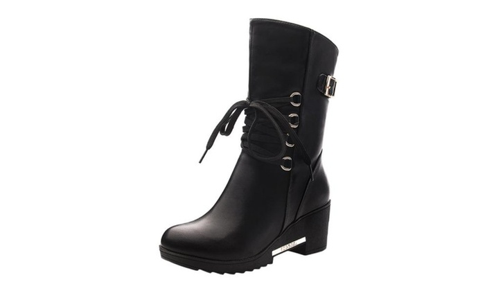 Women's Round Toe Casual Marten Boots Shoes