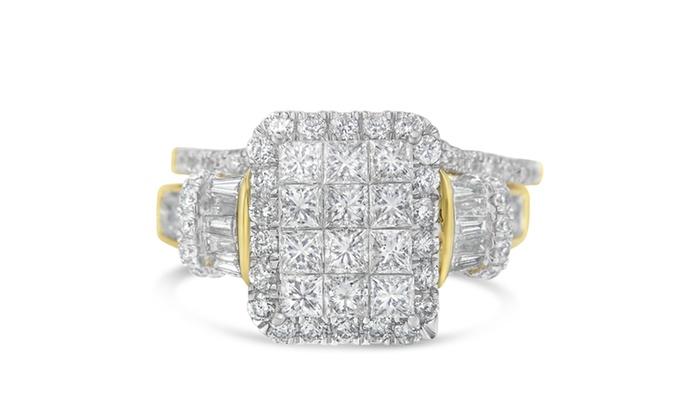 896727b9df8d2 14K Yellow Gold 2.75ct TDW Mix Diamond Ring set (H-I,I1), Size 7