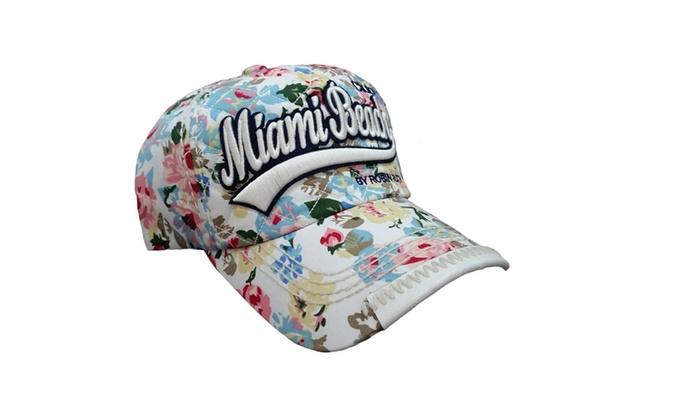 06c220bac5f ... ireland miami beach cap with flowers 2a617 4cd74