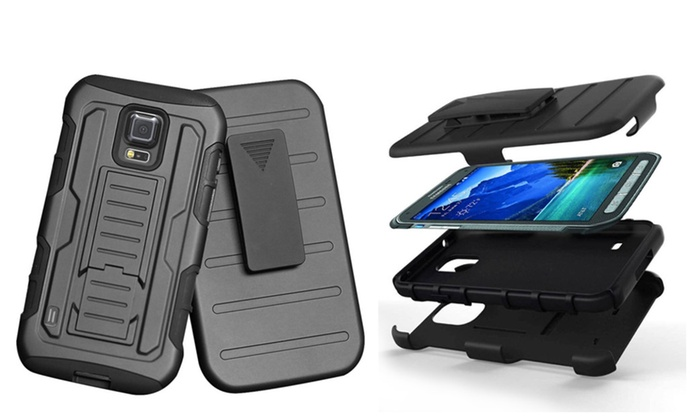 sale retailer 31f07 b3fbb Armor Case Cover Belt Clip Holster Stand for Samsung Galaxy S5 ...