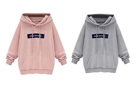 Womens Long Sleeve Hoodie Adorable Sweatshirt Loose Pullover 785165cc-ccb7-45ce-a02a-b262cbdd0946