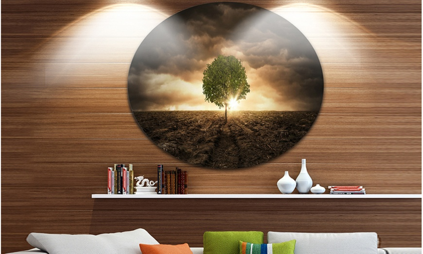 Up To 7 Off On Lonely Tree Under Dramatic Sk Groupon Goods