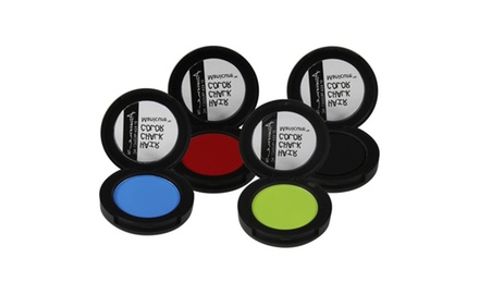 Hair Chalk Color Manicure-Set of 4pcs (Electric Blue, Red, Lime Green & Black)