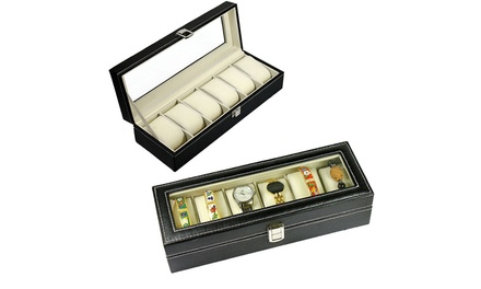 6/10/12/20/24 Slots Watch Box Display Case Organizer Jewelry Storage