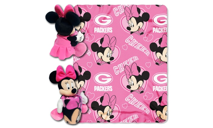 NFL 03801 Packers Minnie Hugger with Throw