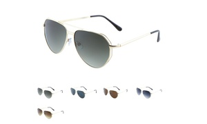Luxe Angled Aviator Sunglasses for Men and Women