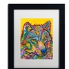 Dean Russo 'Wolf 2' Matted Black Framed Art