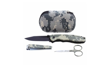 OutDoor Digital Camo Comact Survival Kit - with Lock Knife